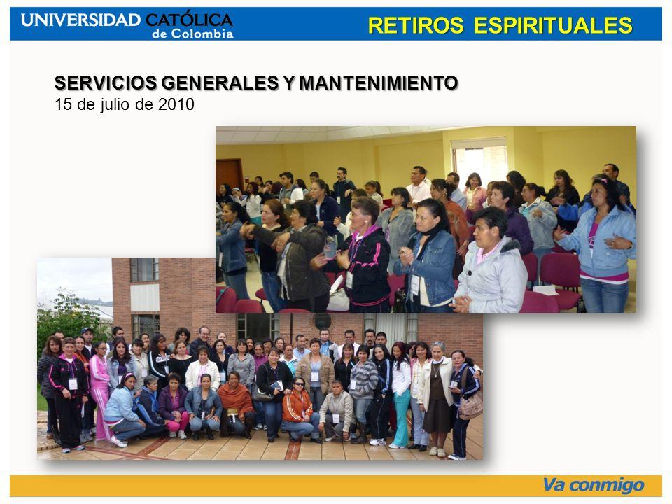 RETIROS ESPIRITUALES SERVICIOS GENERALES Y MANTENIMIENTO