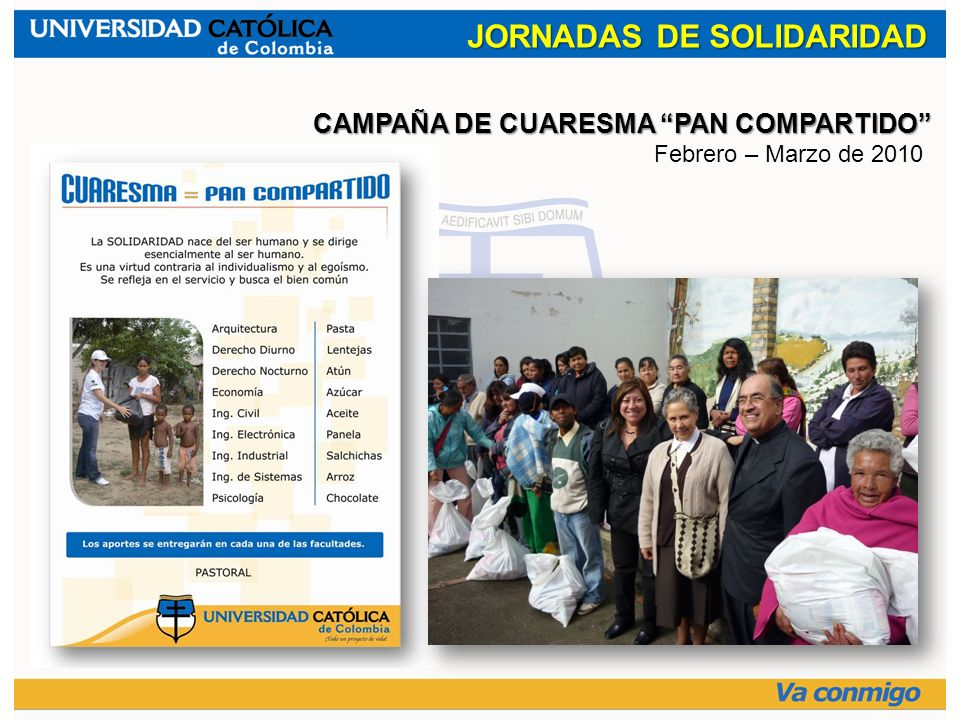JORNADAS DE SOLIDARIDAD