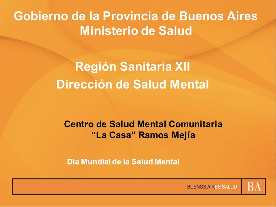 Región Sanitaria XII Dirección de Salud Mental