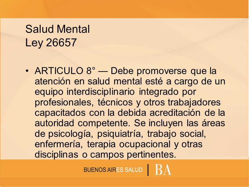 Salud Mental Ley 26657
