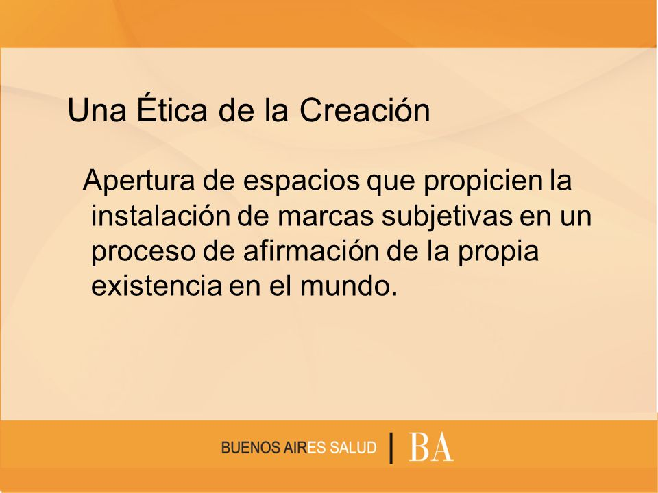 Una Ética de la Creación