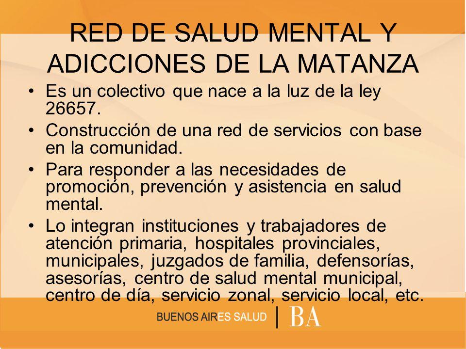 RED DE SALUD MENTAL Y ADICCIONES DE LA MATANZA