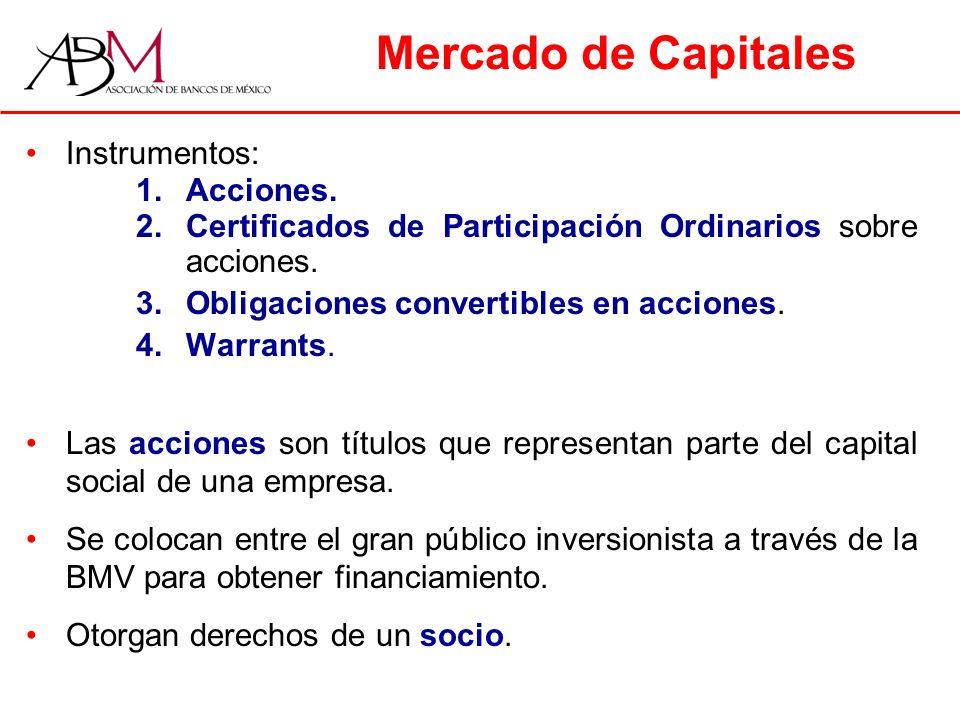 Mercado de Capitales Instrumentos: Acciones.