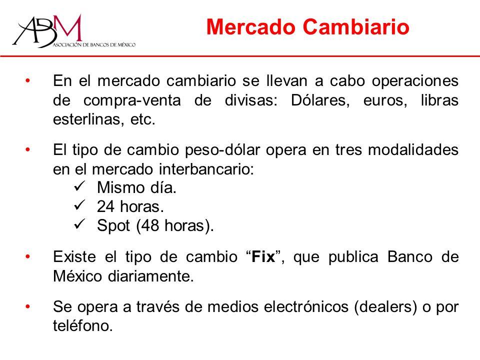 Mercado Cambiario Mismo día. 24 horas. Spot (48 horas).