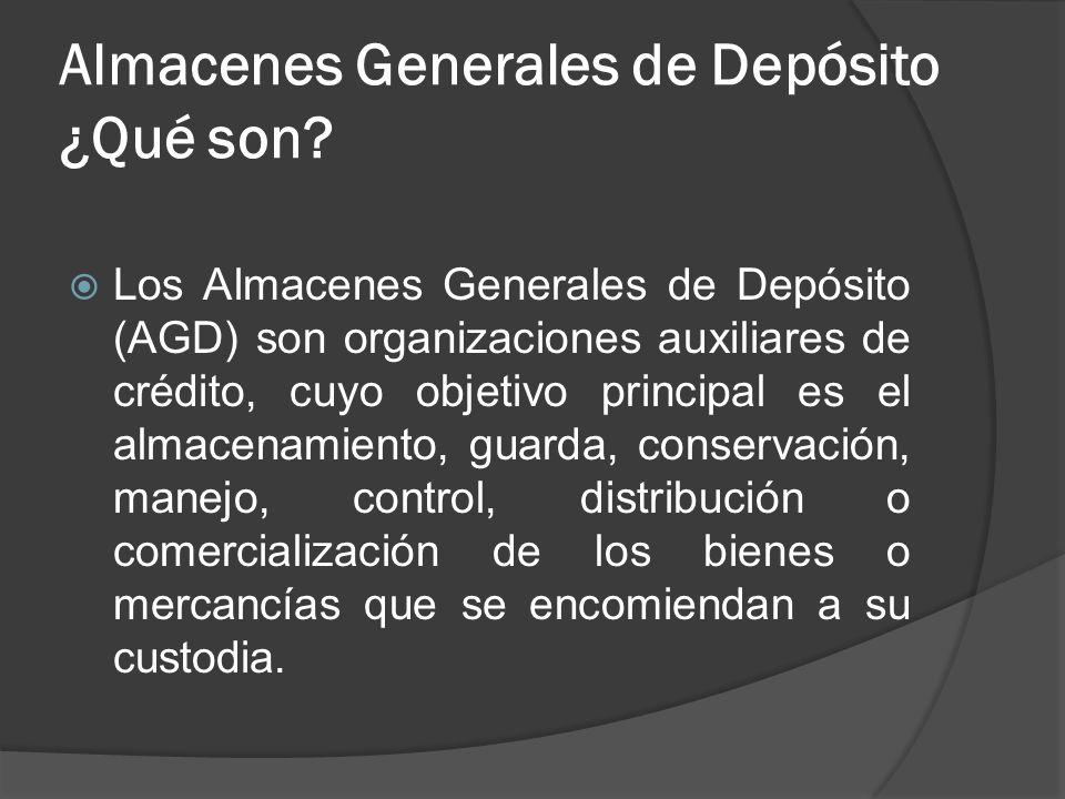 Almacenes Generales de Depósito ¿Qué son