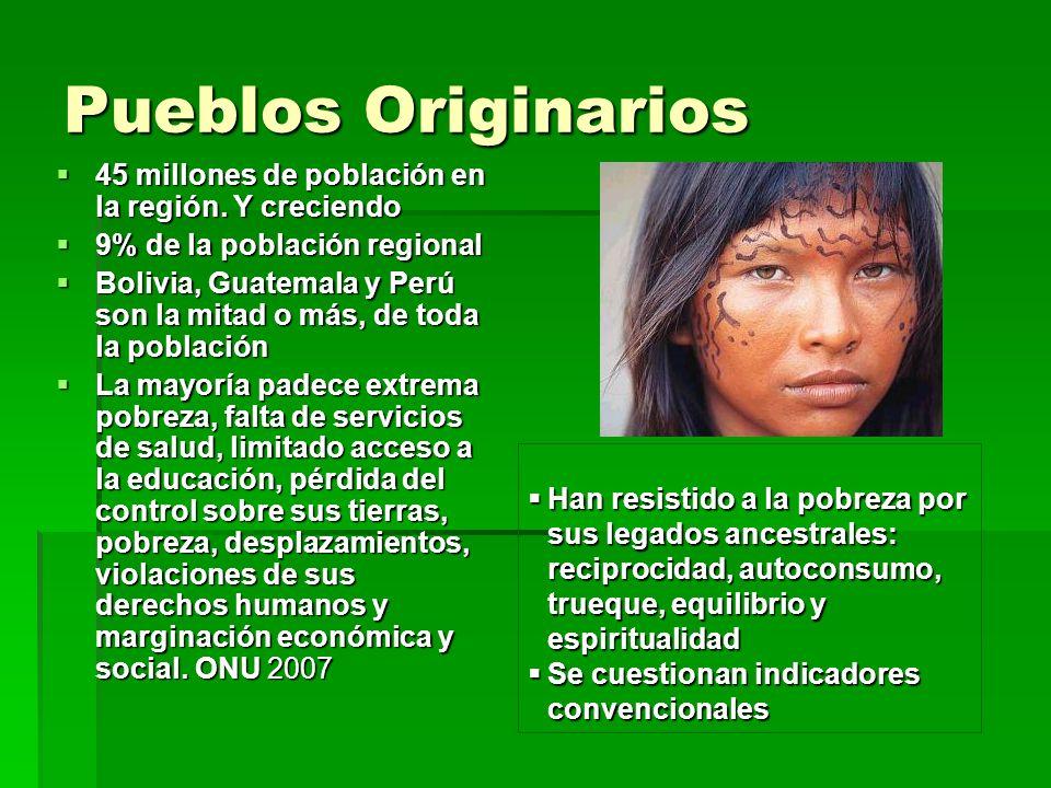 Pueblos Originarios 45 millones de población en la región. Y creciendo