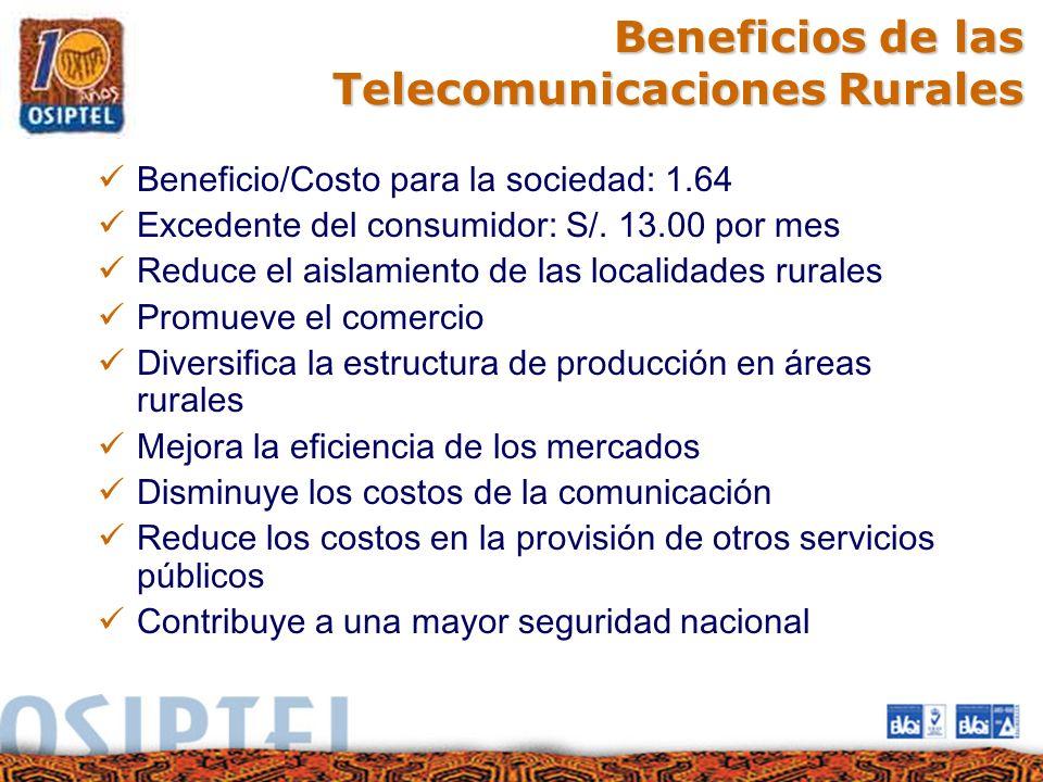 Beneficios de las Telecomunicaciones Rurales