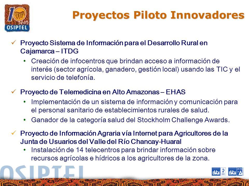 Proyectos Piloto Innovadores