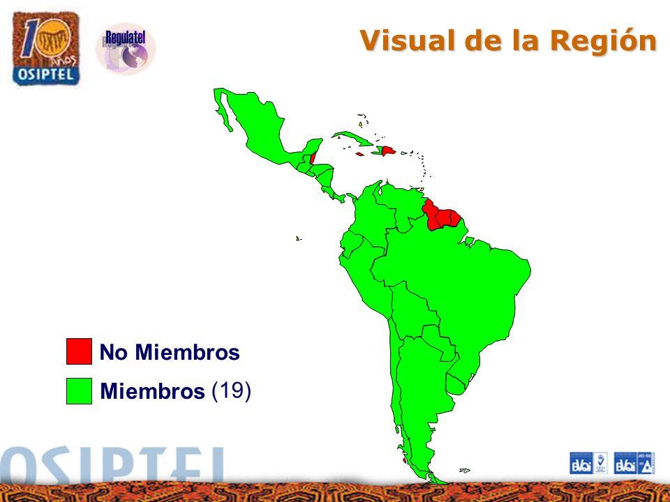 Visual de la Región No Miembros (19) Miembros