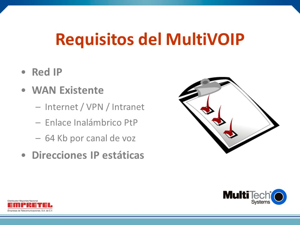 Requisitos del MultiVOIP