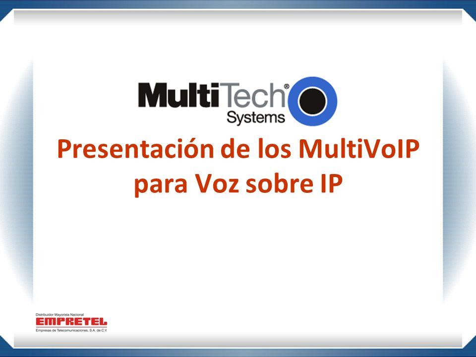 Presentación de los MultiVoIP para Voz sobre IP