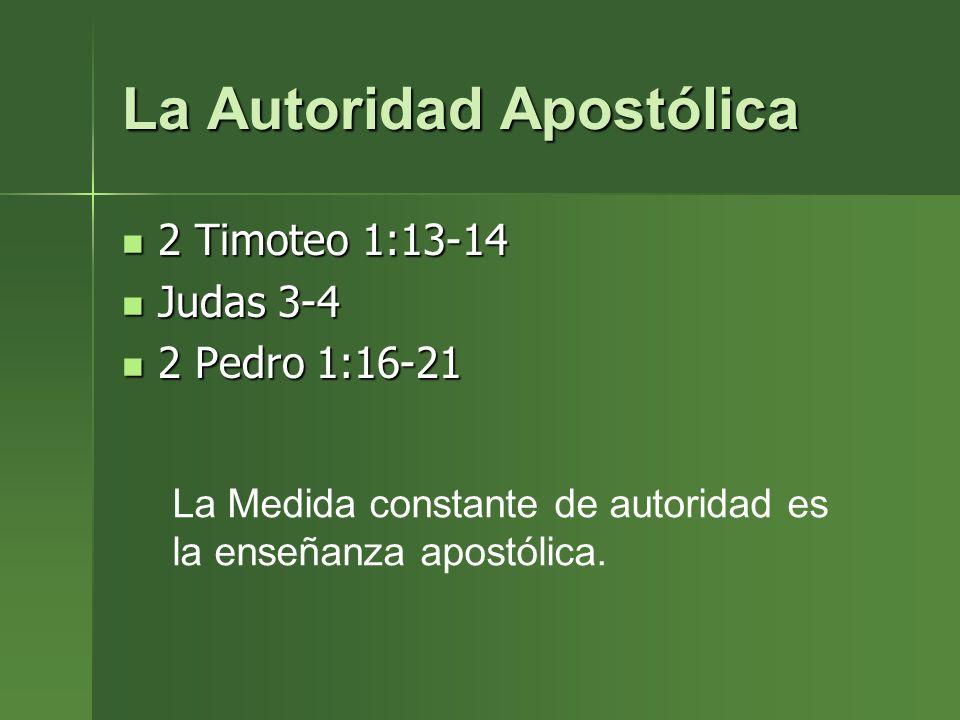 La Autoridad Apostólica