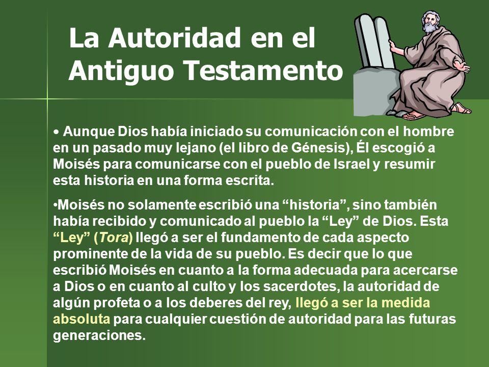La Autoridad en el Antiguo Testamento
