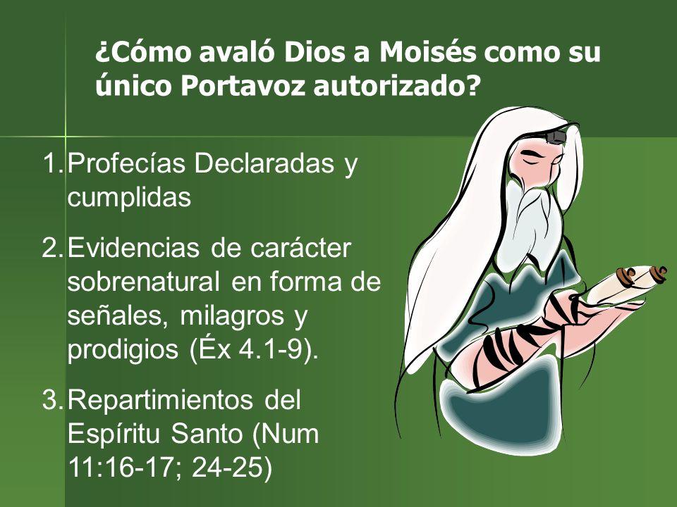 ¿Cómo avaló Dios a Moisés como su único Portavoz autorizado