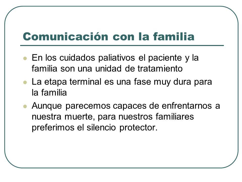 Comunicación con la familia