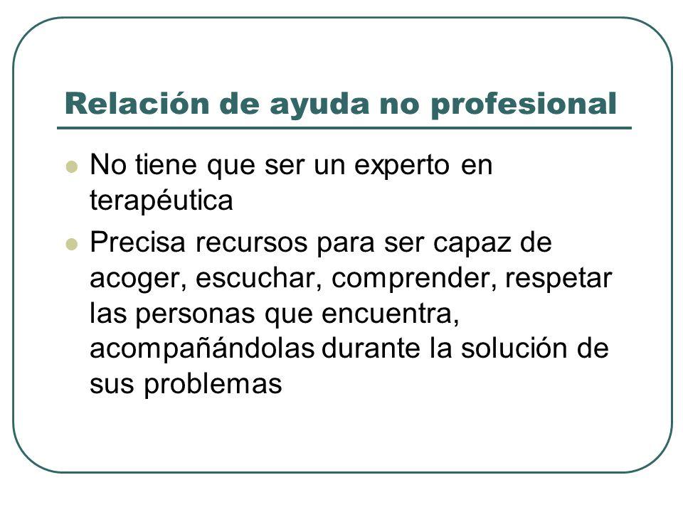 Relación de ayuda no profesional