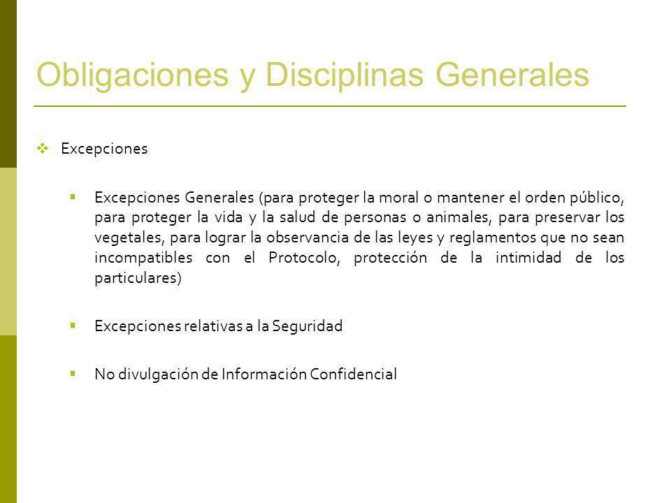 Obligaciones y Disciplinas Generales
