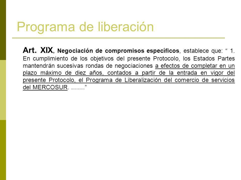 Programa de liberación