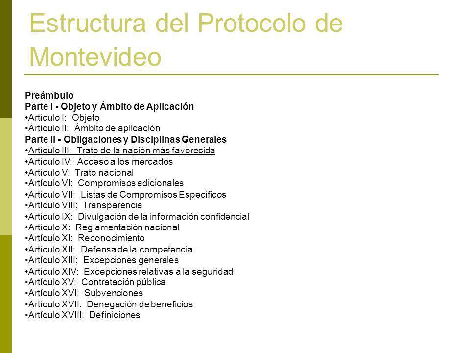 Estructura del Protocolo de Montevideo