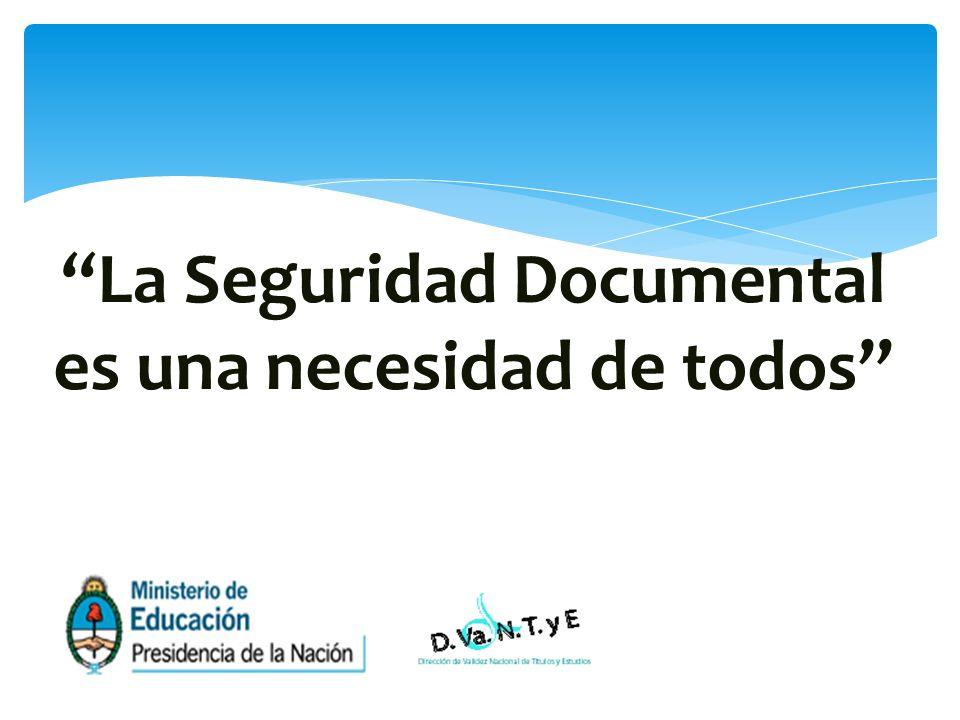 La Seguridad Documental es una necesidad de todos