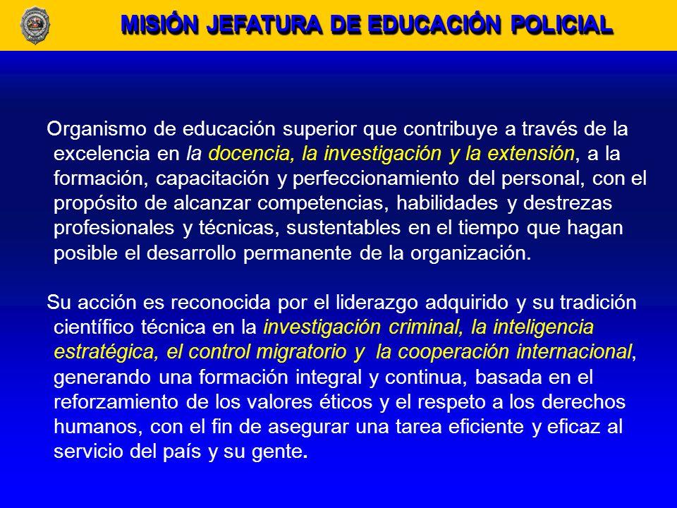 MISIÓN JEFATURA DE EDUCACIÓN POLICIAL