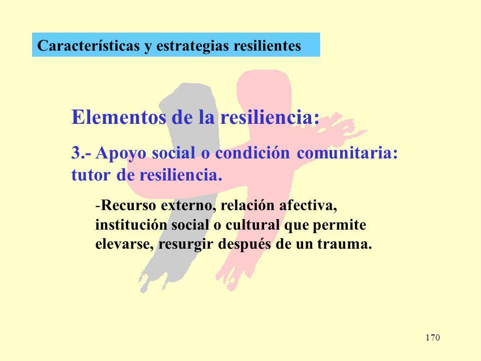 Elementos de la resiliencia: