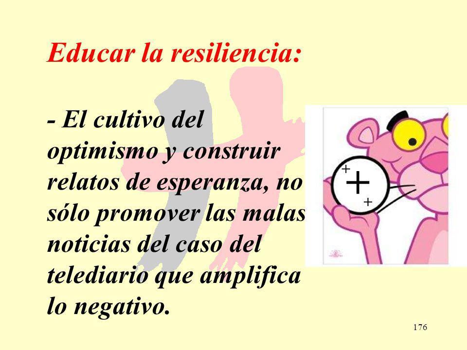 + Educar la resiliencia: