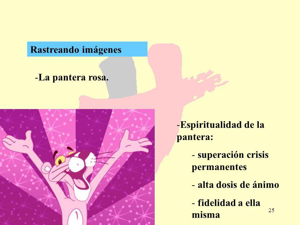 Rastreando imágenes La pantera rosa. Espiritualidad de la pantera: superación crisis permanentes.