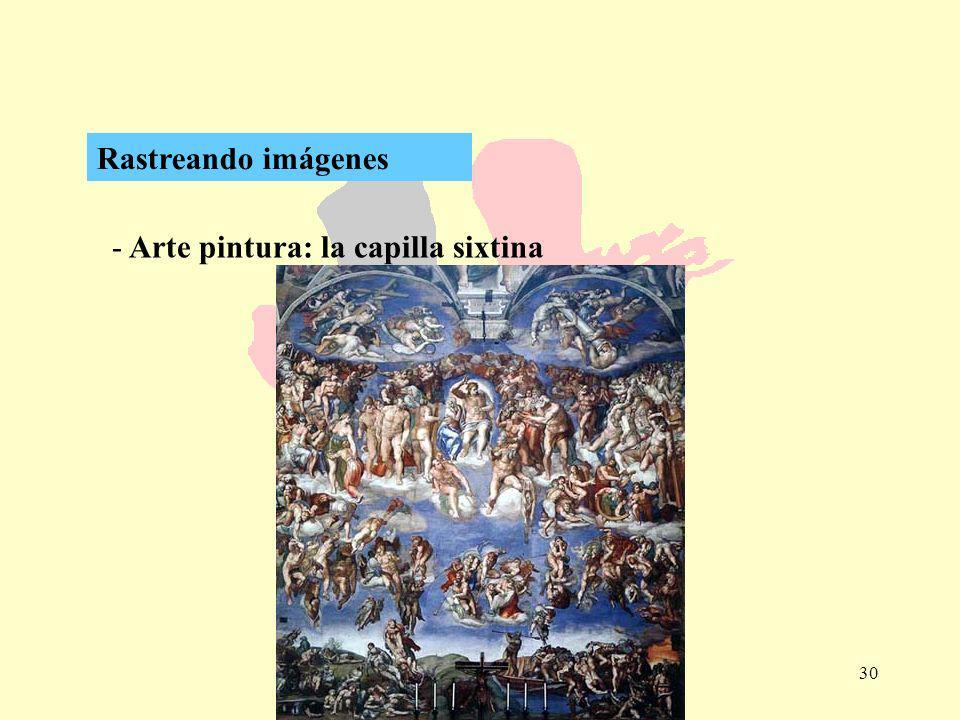 Rastreando imágenes Arte pintura: la capilla sixtina