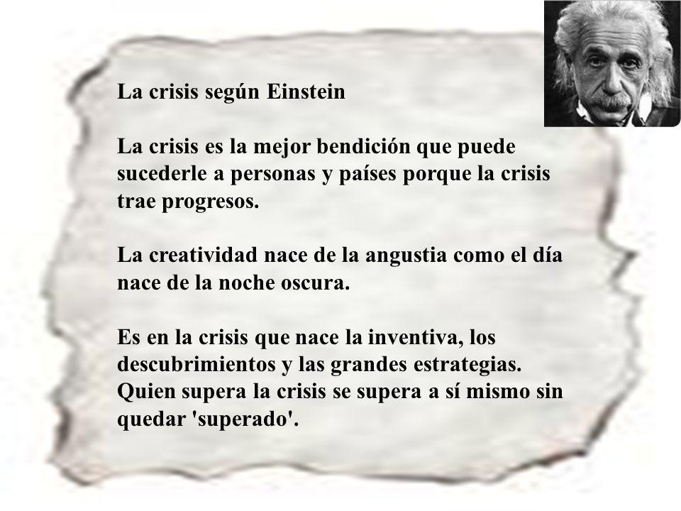 La crisis según Einstein