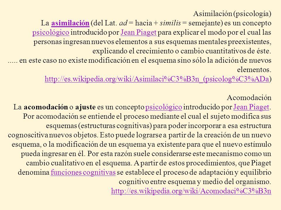 Asimilación (psicología)
