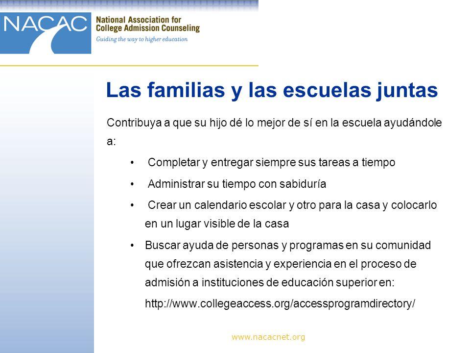 Las familias y las escuelas juntas