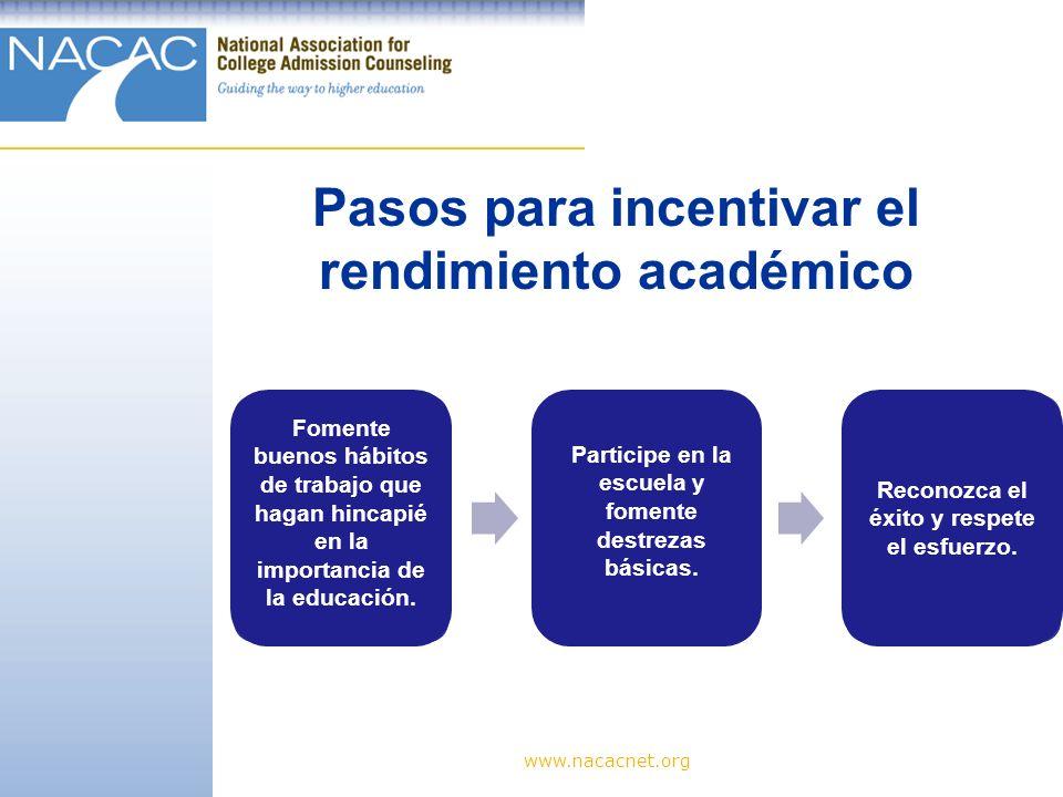 Pasos para incentivar el rendimiento académico