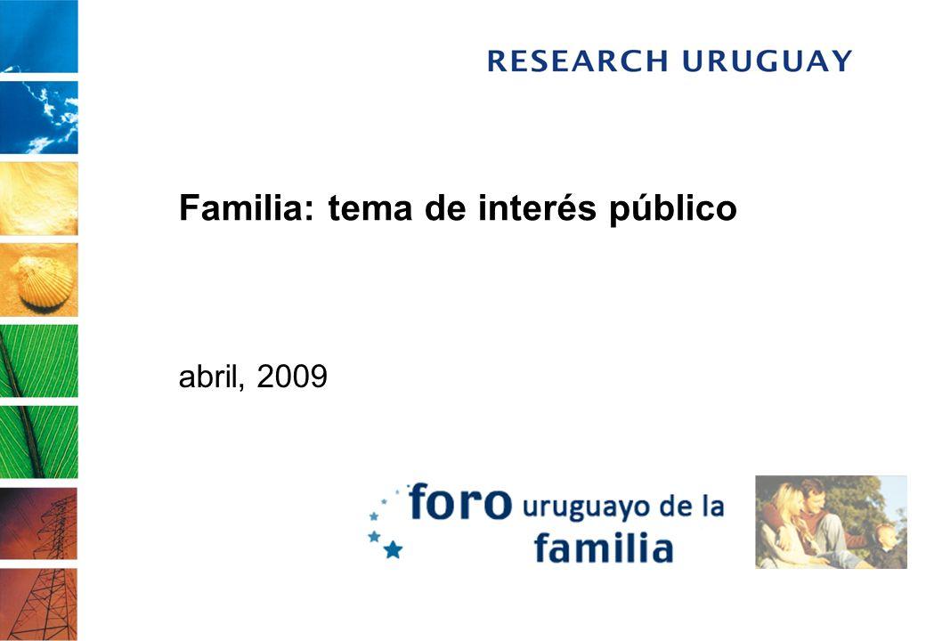 Familia: tema de interés público