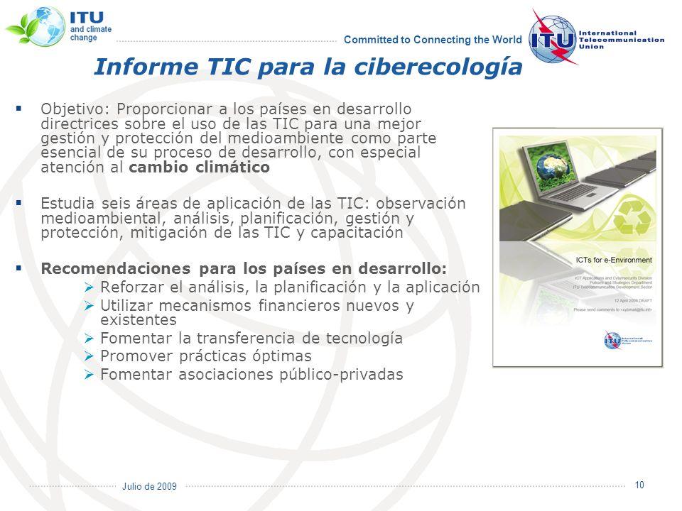 Informe TIC para la ciberecología