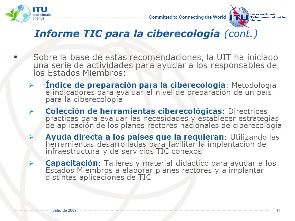 Informe TIC para la ciberecología (cont.)