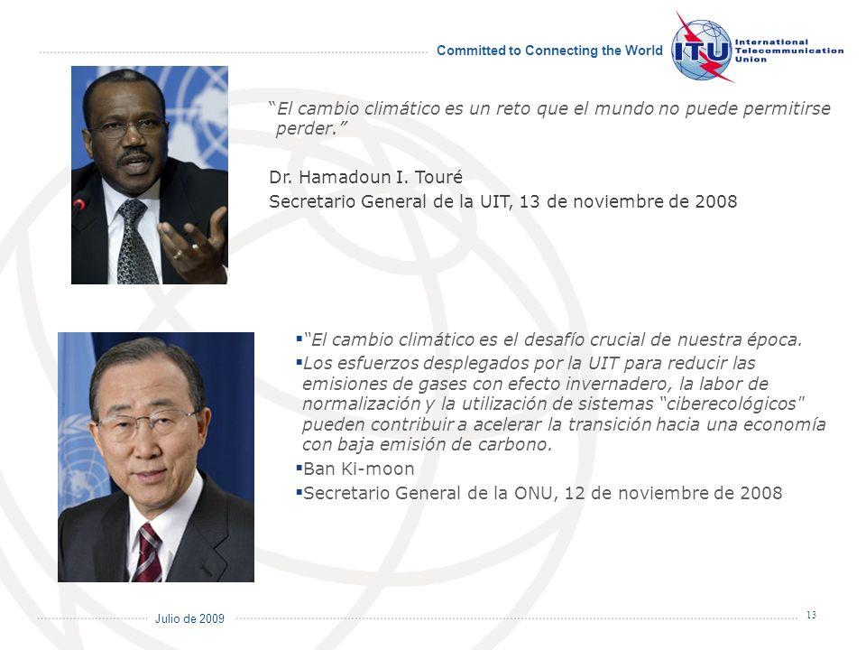 Secretario General de la UIT, 13 de noviembre de 2008