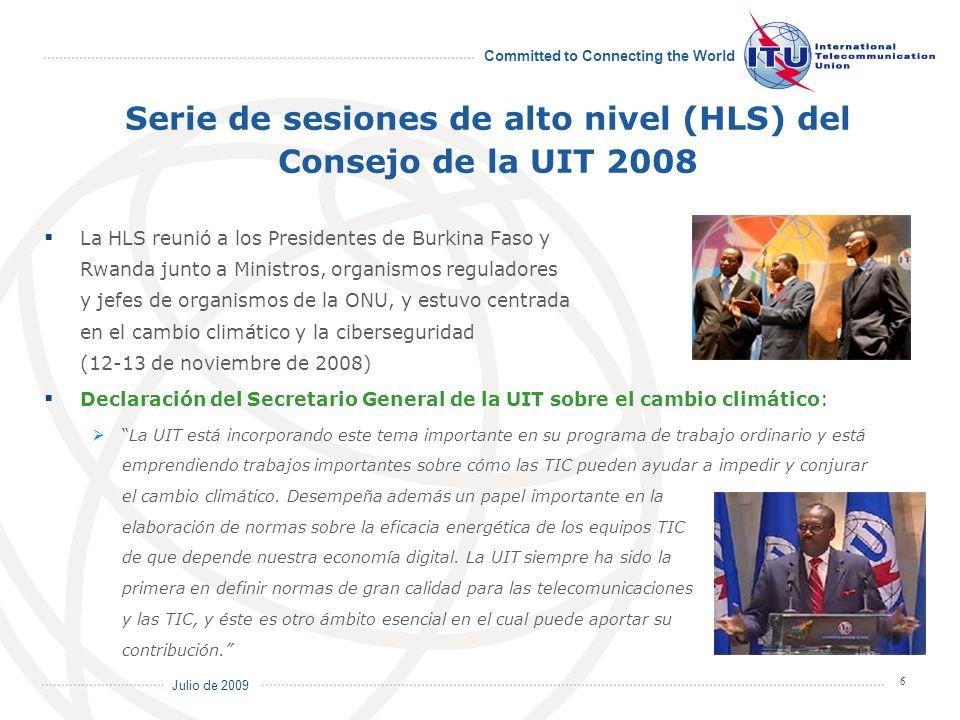 Serie de sesiones de alto nivel (HLS) del Consejo de la UIT 2008