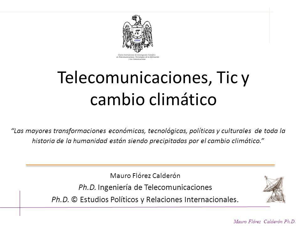 Telecomunicaciones, Tic y cambio climático
