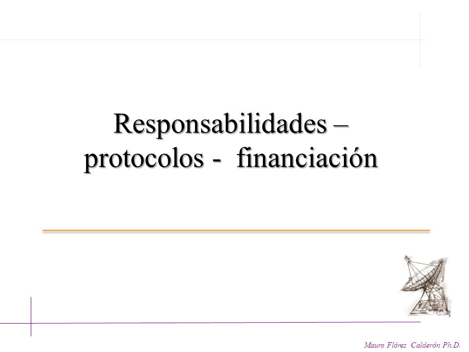 protocolos - financiación