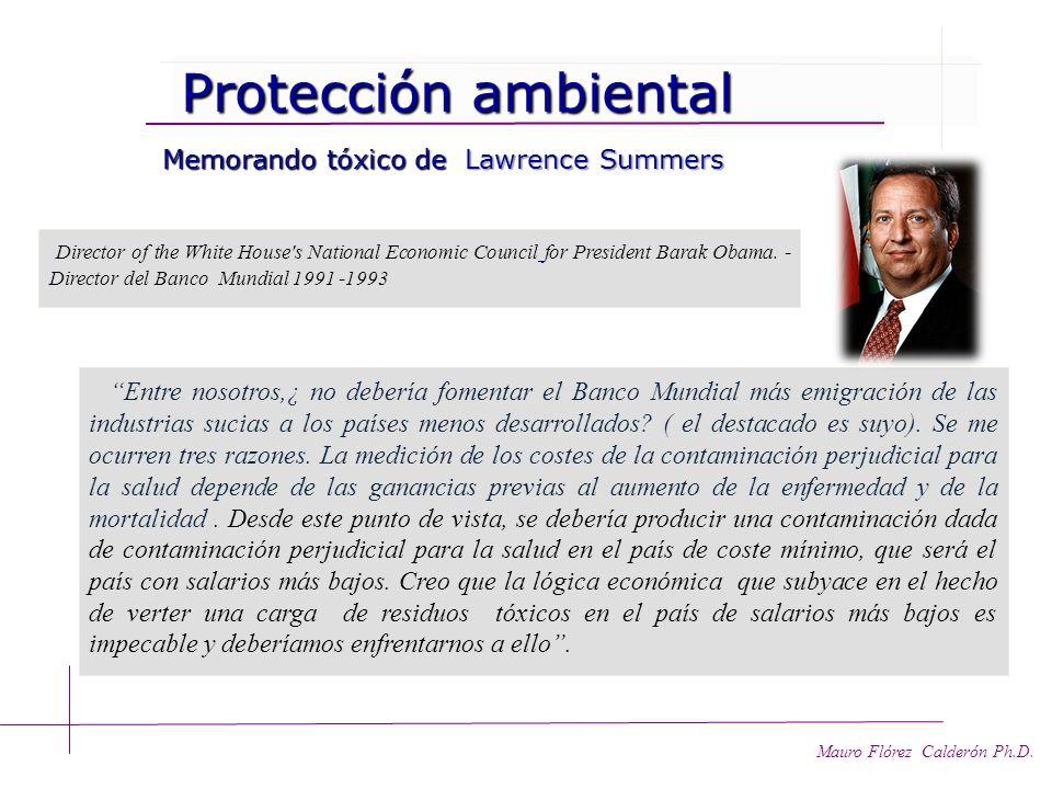 Protección ambiental Memorando tóxico de Lawrence Summers