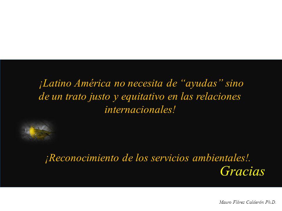 ¡Reconocimiento de los servicios ambientales!.