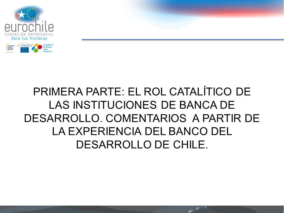 PRIMERA PARTE: EL ROL CATALÍTICO DE LAS INSTITUCIONES DE BANCA DE DESARROLLO.