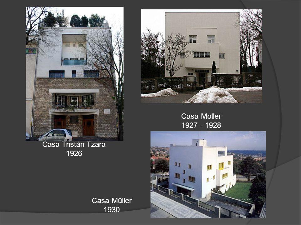 Casa Moller 1927 - 1928 Casa Tristán Tzara 1926 Casa Müller 1930