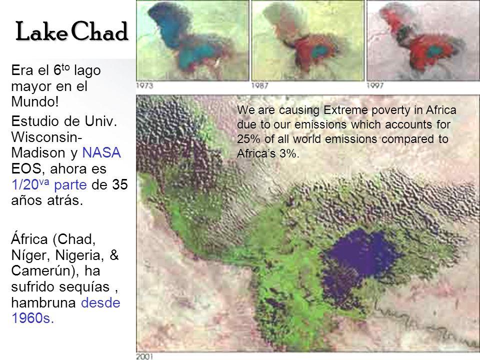 Lake Chad Era el 6to lago mayor en el Mundo!