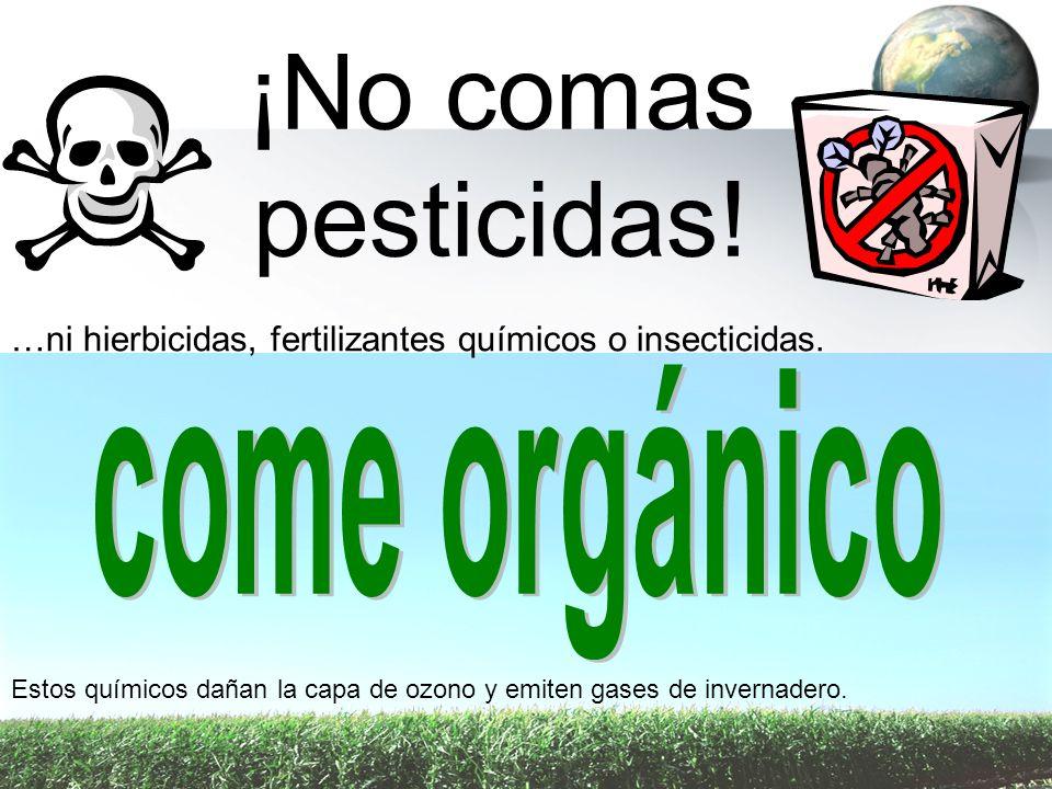 ¡No comas pesticidas! come orgánico