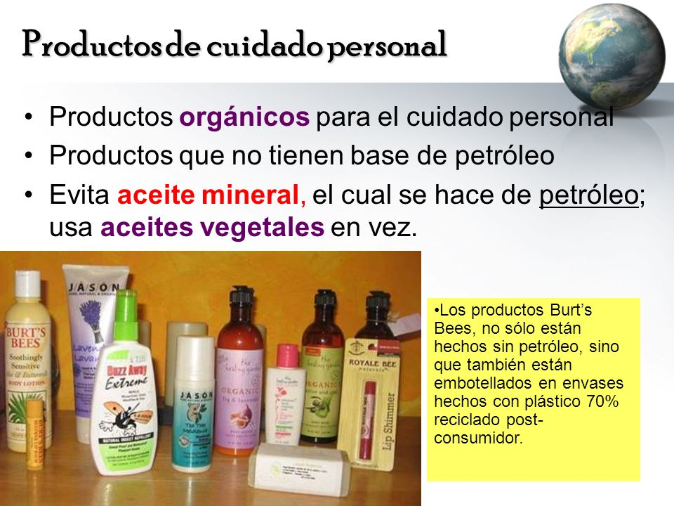 Productos de cuidado personal