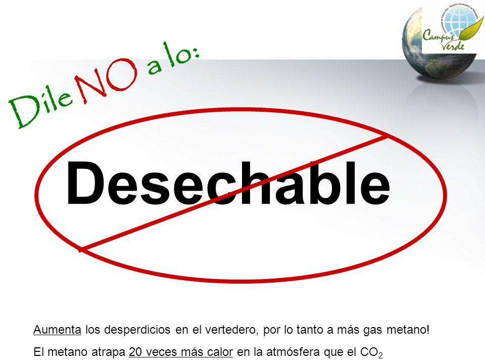 Desechable Dile NO a lo: