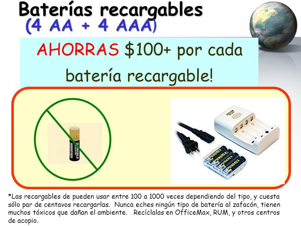 Baterías recargables (4 AA + 4 AAA)