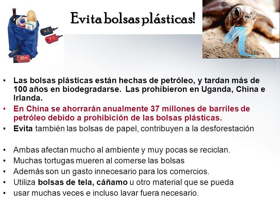 Evita bolsas plásticas!